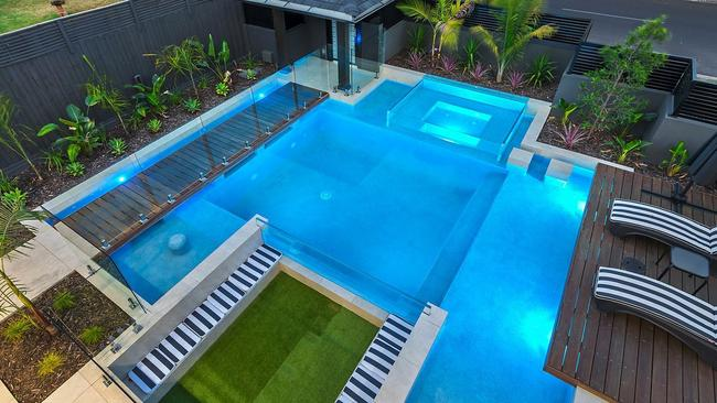 The outdoor entertainment zone from above.