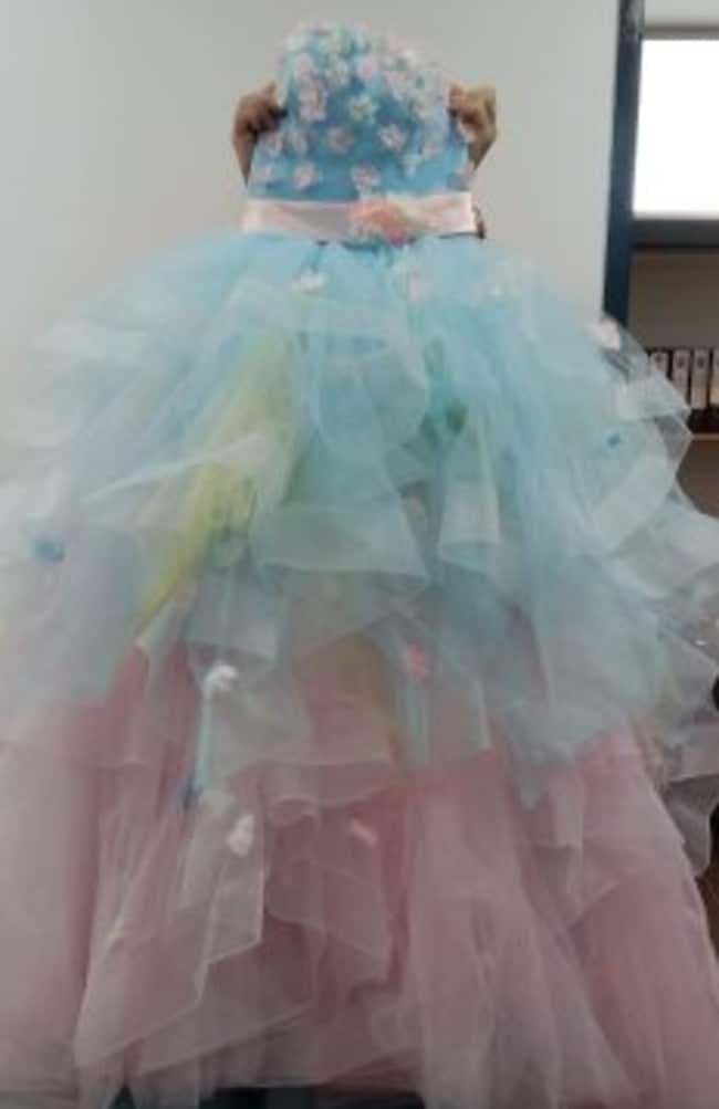 Police are trying to find the owner of the hand crafted wedding dress. Picture: Queensland Police