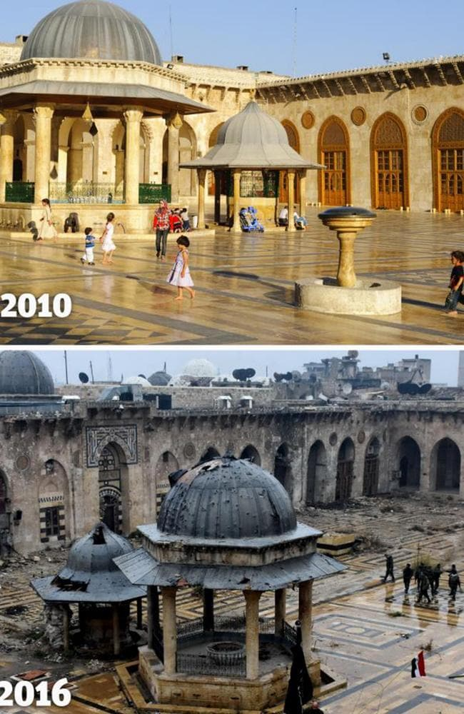 The Bab al-Nasr district of Aleppo's Old City was once renowned for its bustling souks, grand citadel and historic gates. Aleppo's Old City has been rendered virtually unrecognisable by some of the worst violence of Syria's war. Picture: AFP/George Ourfalian