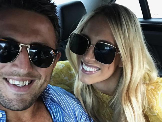 Instagram images of Sam & Phoebe Burgess taken from their Instagram accounts. Picture: Instagram @samburgess8 @mrsphoebeburgess