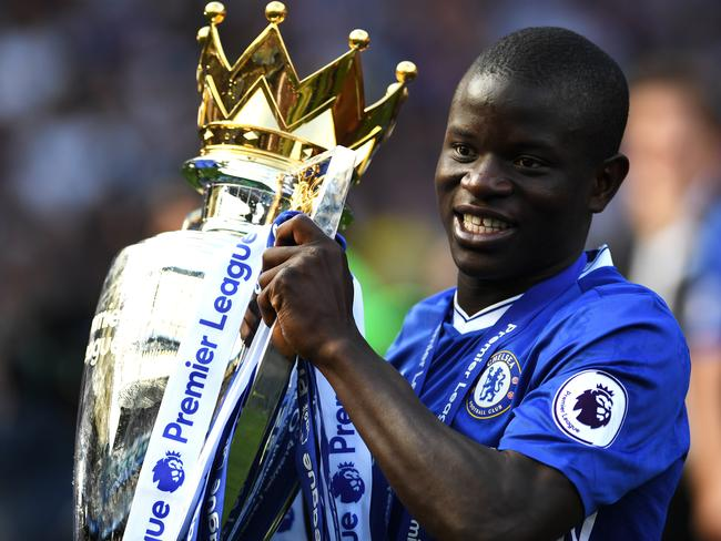 N'Golo Kante shows off the spoils of another season of exceptional quality.