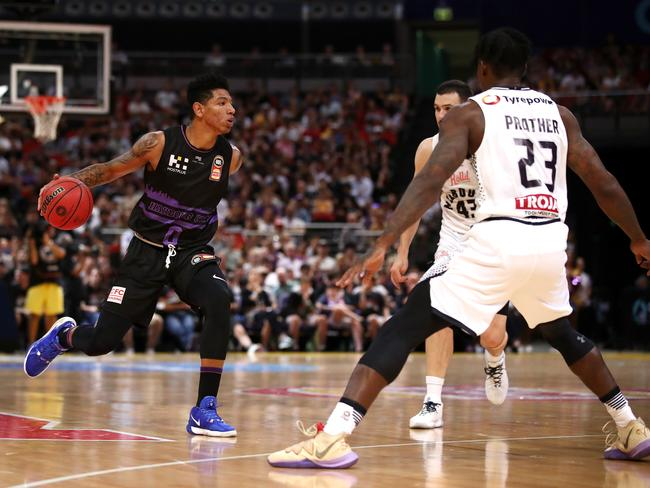 Didi Louzada of the Kings during the round nine NBL match between the Sydney Kings and Melbourne United at Qudos Bank Arena. Picture: Cameron Spencer/Getty Images