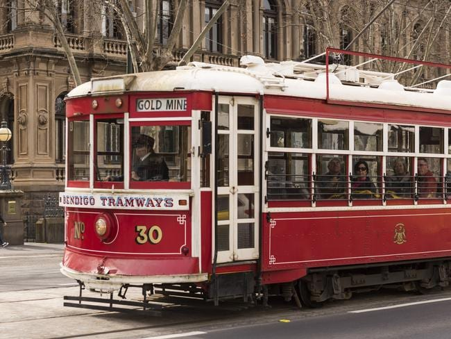 Take in the sights of Bendigo while learning about its past on an iconic vintage talking tram.