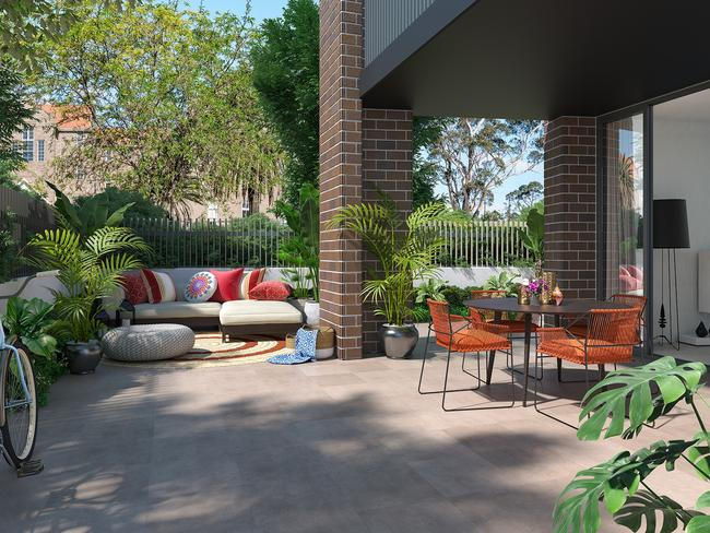 Outdoor spaces galore.