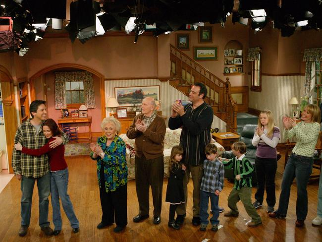 The cast of Everybody Loves Raymond at the taping of the final episode in 2005.