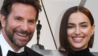 "Best Actor nominee for ""A Star is Born"" Bradley Cooper (L) and his wife Russian model Irina Shayk arrive for the 91st Annual Academy Awards at the Dolby Theatre in Hollywood, California on February 24, 2019. (Photo by Mark RALSTON / AFP)"