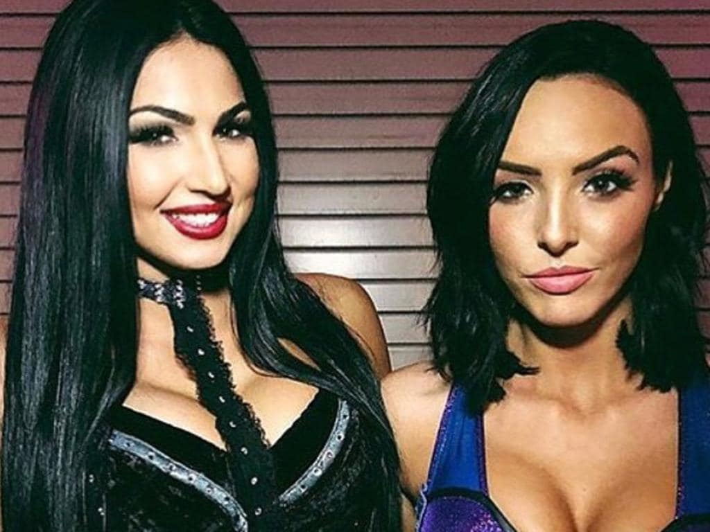 Peyton Royce and Bilie Kay WWE wrestlers. Picture: Instagram