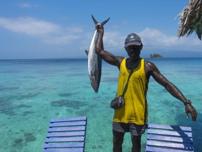 Solomon Islands fisherman. Picture: Fiona Harper