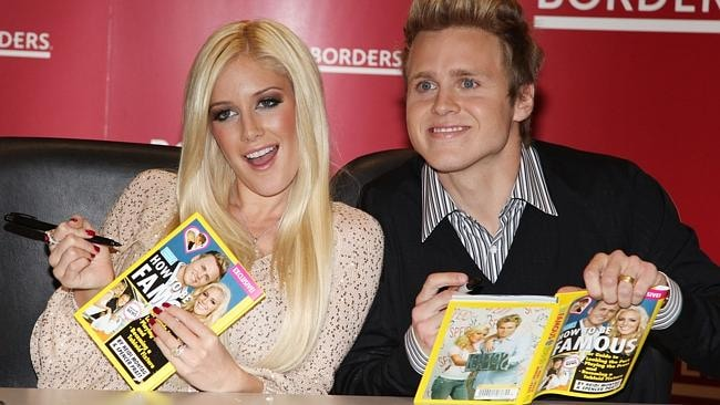 Heidi Montag and Spencer Pratt promote their book  <i>How to be Famous</i> in 2009. Picture: Getty