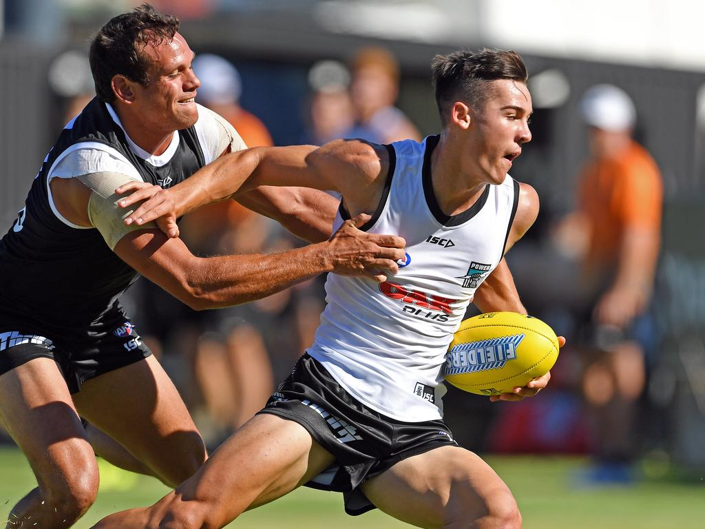 Port Adelaide's Connor Rozee had an excellent first half in the intra-club. Picture: Tom Huntley