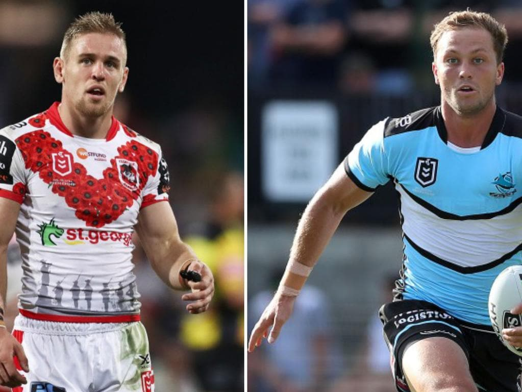 Dragon Matt Dufty has been dropped, but Sharks Matt Moylan could return from injury