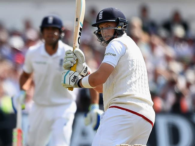 Joe Root is leading England to a massive first innings lead.