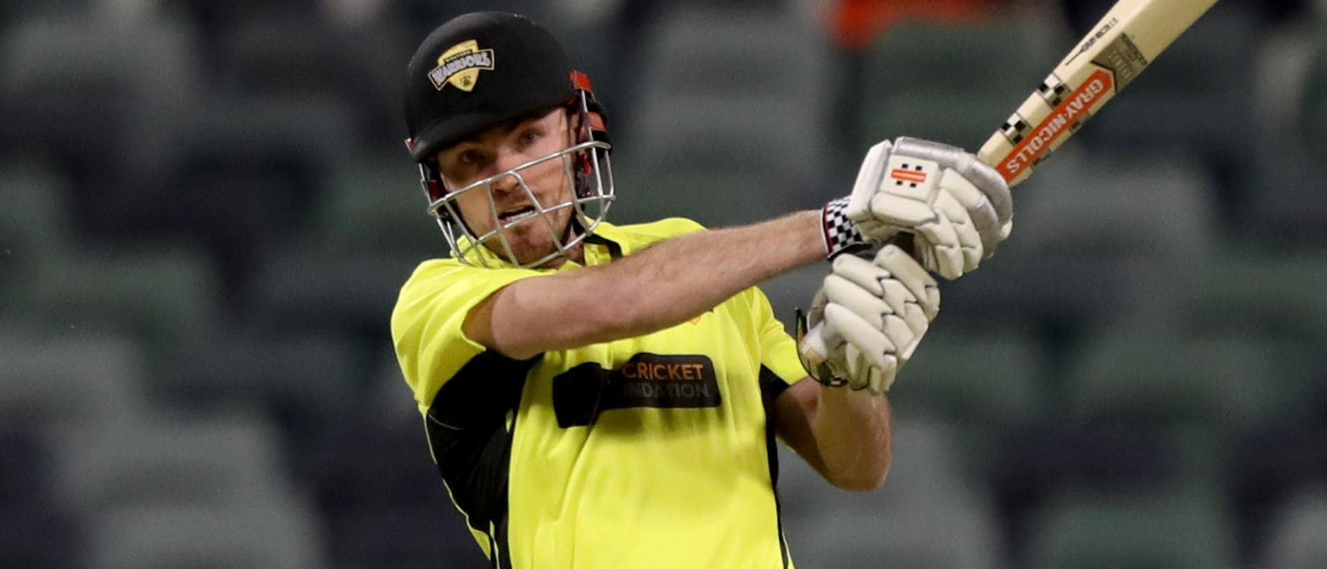 Ashton Turner of Western Australia plays a shot during the JLT One-Day Cup 2018 match between Western Australia and NSW at the WACA in Perth, Tuesday, September 18, 2018. (AAP Image/Richard Wainwright) NO ARCHIVING, EDITORIAL USE ONLY, IMAGES TO BE USED FOR NEWS REPORTING PURPOSES ONLY, NO COMMERCIAL USE WHATSOEVER, NO USE IN BOOKS WITHOUT PRIOR WRITTEN CONSENT FROM AAP