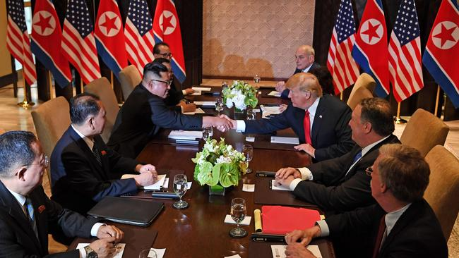 Donald Trump has vowed to Kim Jong-un that they will solve a 'big dilemma' together.