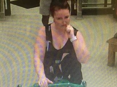 Police are trying to track down a woman (above) and a man they believe have information on the whereabouts of Katherine Johnson and her daughters. Picture: Qld Police