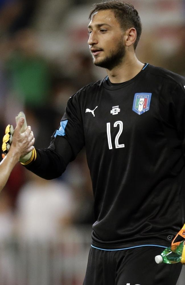 Italy goalkeeper Gianluigi Donnarumma