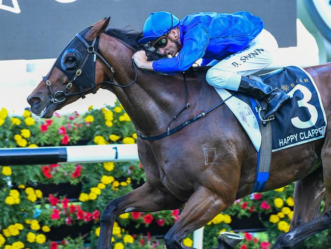 Happy Clapper wins the Doncaster Mil at Royal Randwick in 2018.