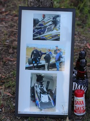 A tribute left at one of the scenes. Picture: Glenn Hampson
