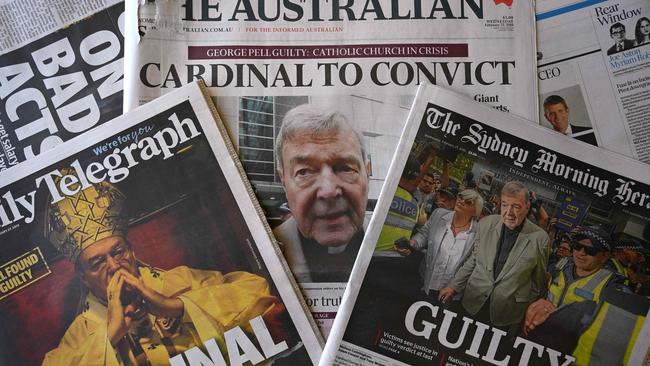 George Pell's bail was revoked this week after he was found guilty last December. Picture: AFP