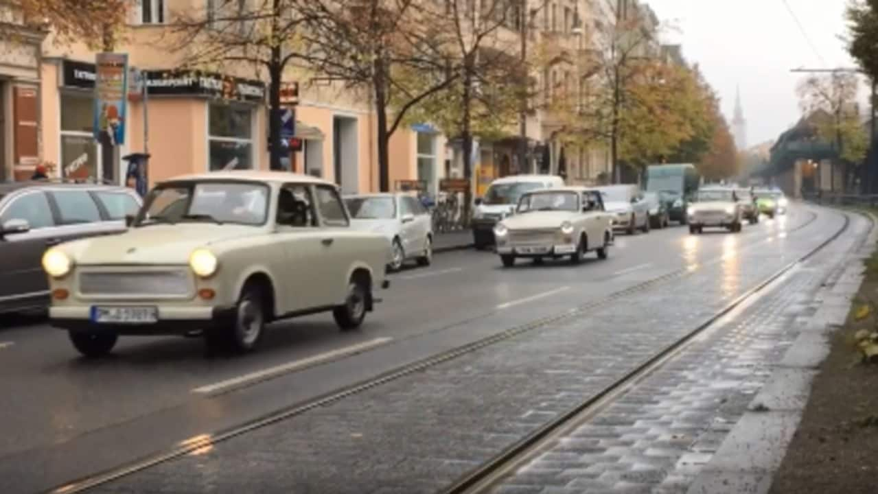 Convoy of Trabants Moves Through German Capital to Mark 30 Years Since Fall of Berlin Wall