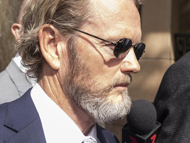 Craig McLachlan leaves the Melbourne Magistrates Court in April. Picture: Daniel Pockett/AAP
