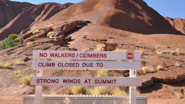 Uluru will be completely closed to climbers from October 2019. Photo: Zach Hope