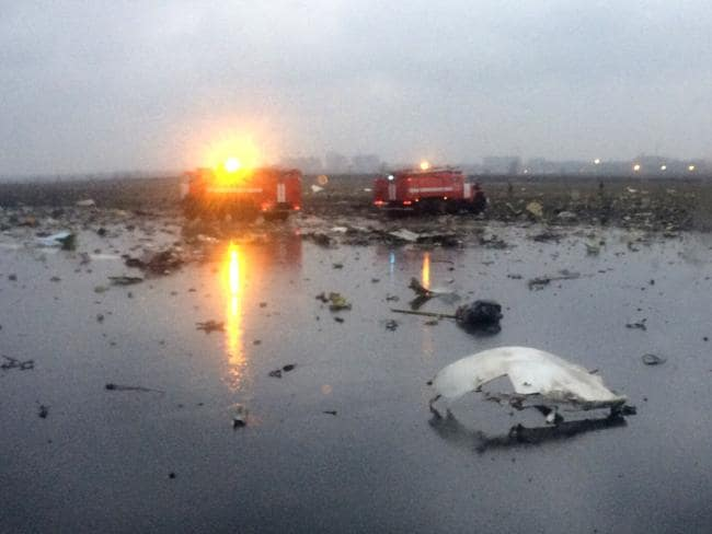The crash scene at Rostov-on-Don airport.