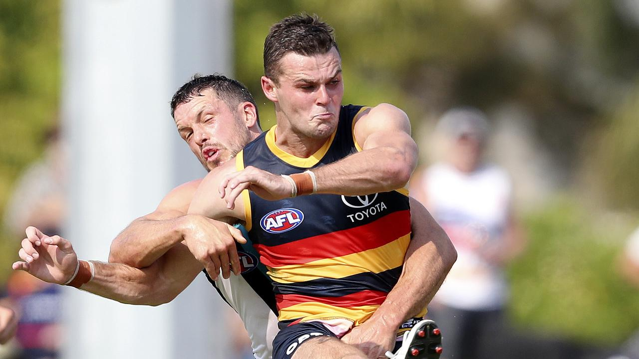 Adelaide's Brad Crouch racked up the touches in the JLT Series. Picture: Sarah Reed