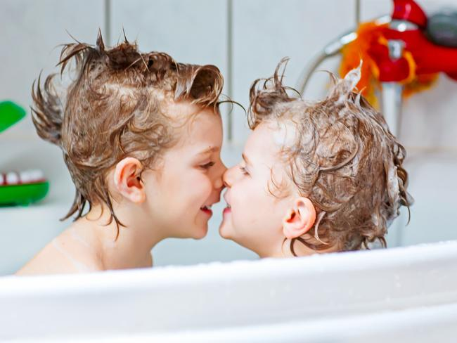 Lillian Saleh has posted pictures of her son in the bath. This isn't him. Picture: Generic photo.