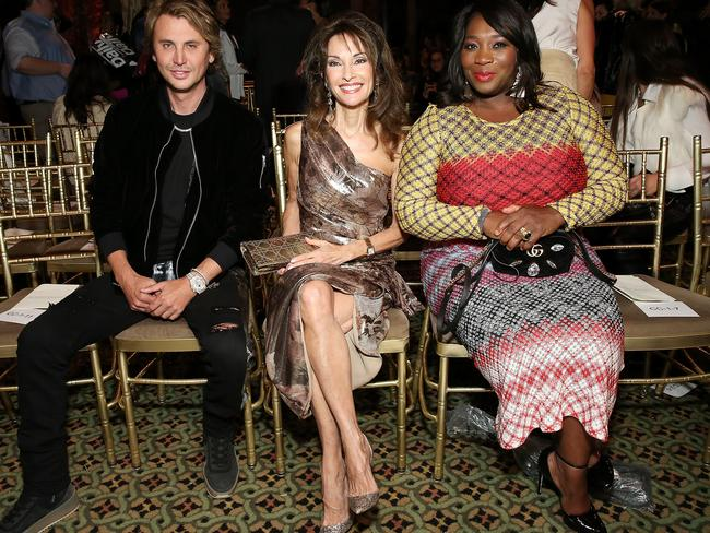 Lucci (centre) at New York Fashion Week this week. Picture: Getty