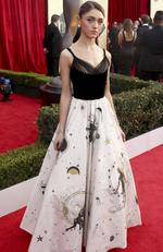 Natalia Dyer arrives at the 24th annual Screen Actors Guild Awards at the Shrine Auditorium & Expo Hall on Sunday, Jan. 21, 2018, in Los Angeles. Picture: Matt Sayles/Invision/AP