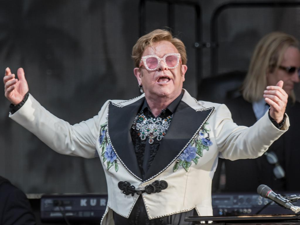 Elton John at Yarra Valley Rochford Wines. Picture: Shotz by Jackson