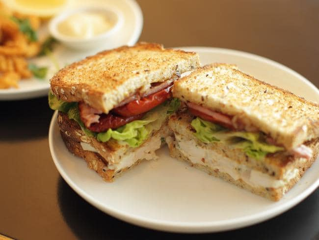 Passengers are mad for this simple club sandwich. Picture: Qantas