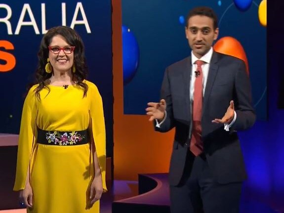 The show was hosted by Annabel Crabb and Waleed Aly. Picture: Australia Talks/ABC