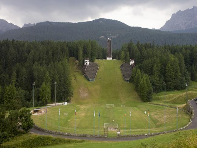 Landscape showing the ski jump for the 1956 Olympics.