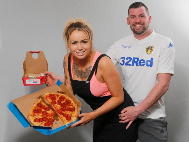 Daniella Hirst, 28 and Craig Smith, 31, were waiting for their stuffed crust takeaway in February when they allegedly carried out the public sex act. Picture: News Group Newspapers