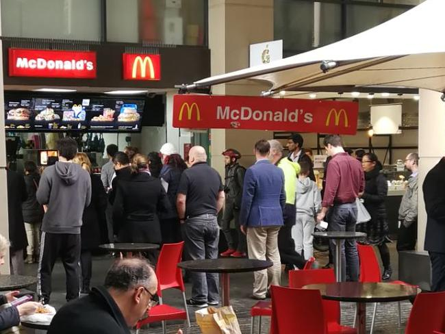 Macca's $1 burger deal has caused a frenzy across Australia, with people queuing to get a bargain Big Mac. Picture. Supplied