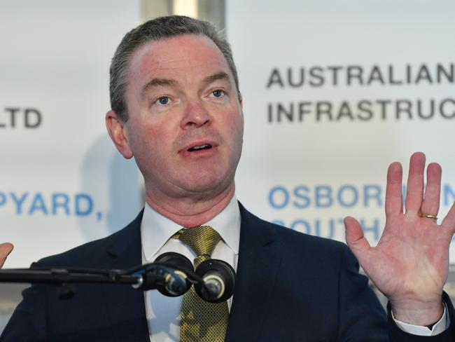 Government Minister Christopher Pyne has warned 'No' campaigners not to make red herring arguments against gay marriage. Picture: AAP