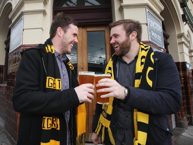 Swan St will be a hot spot even if the Tigers don't make the final showdown. Picture: Michael Dodge/Getty Images