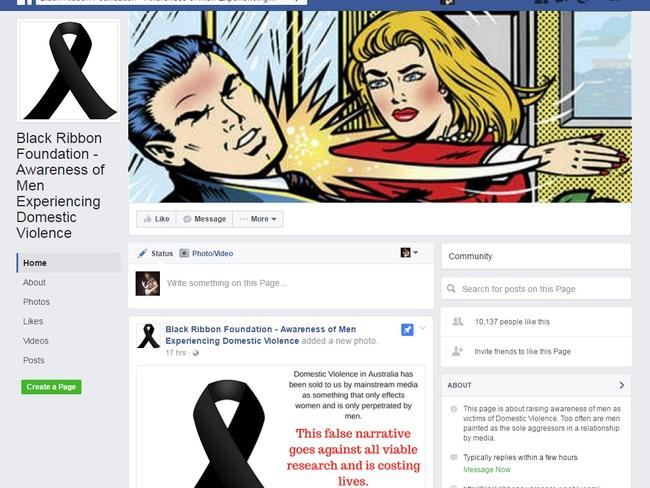 The Black Ribbon Foundation's Facebook page.