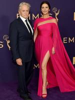 LOS ANGELES, CALIFORNIA - SEPTEMBER 22: Michael Douglas (L) and Catherine Zeta-Jones attend the 71st Emmy Awards at Microsoft Theater on September 22, 2019 in Los Angeles, California. (Photo by Matt Winkelmeyer/Getty Images)
