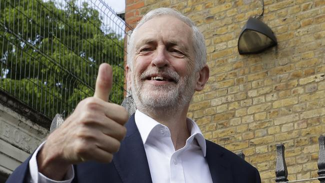 Mr Corbyn defied odds and gave Labour major gains in the 2017 election. Picture: Kirsty Wigglesworth/AP