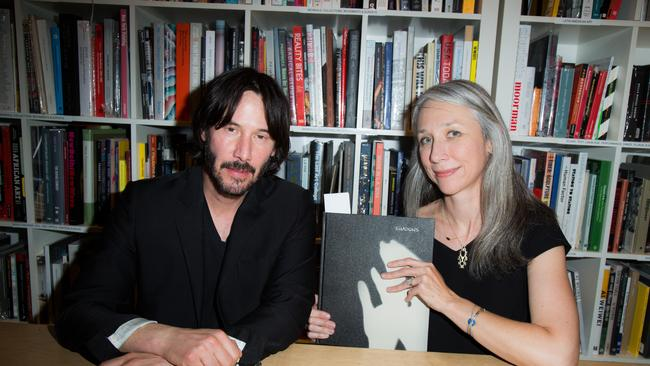 Looking effortlessly cool as they showcase the 2016 book they worked on together,  <i>Shadows</i>. Image: Getty.