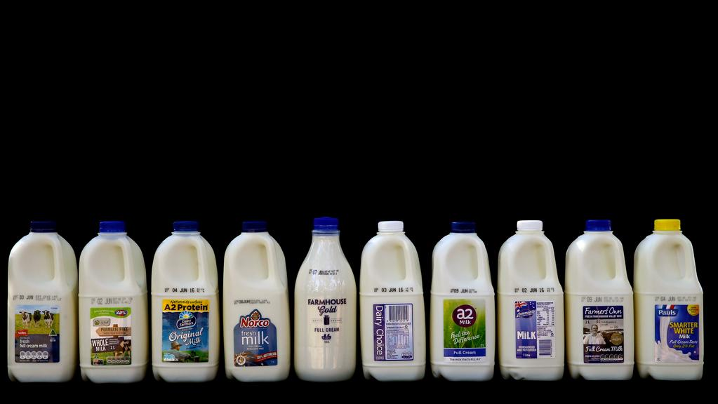 Half of the major milk brands sold in Australia are owned by