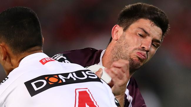 Matt Gillett of the Broncos suffered a broken neck in round one.