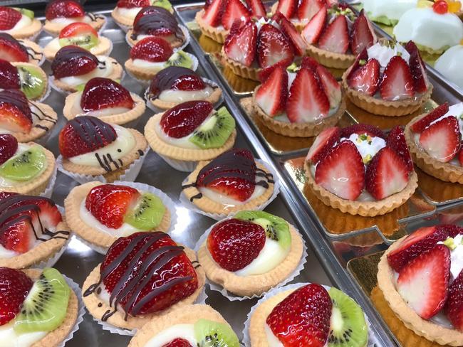 Freshly made strawberry tarts. Picture: Jenifer Jagielski