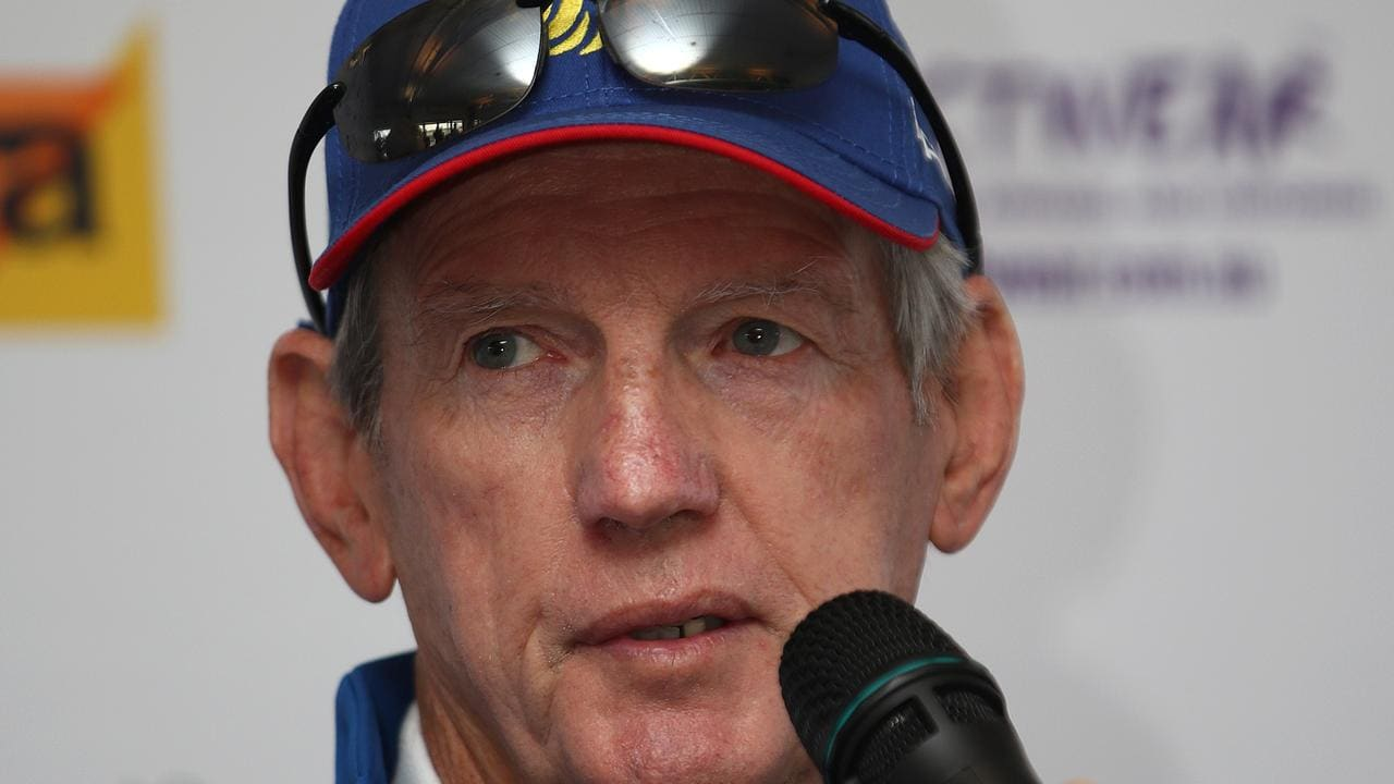 Great Britain coach Wayne Bennett during a press conference