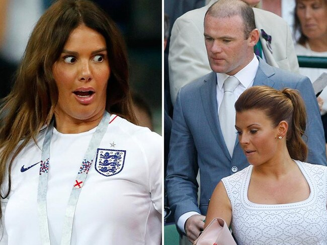 Rebekah Vardy (left) and Wayne and Coleen Rooney. Pictures: File