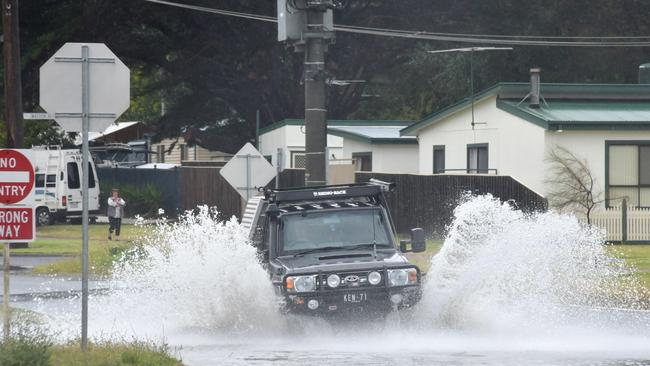 Flooding in Dromana. Picture: Adam Richmond