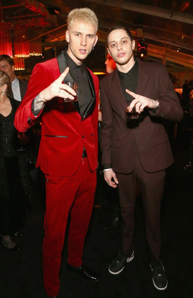 Machine Gun Kelly and Pete Davidson at Netflix's 2019 Golden Globes party. Picture: Getty Images for Netflix